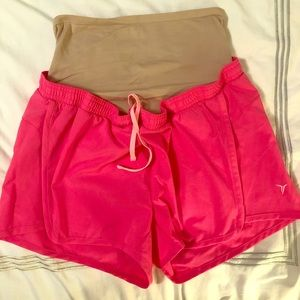 Old Navy Active Go Dry Maternity Shorts, Pink, S/P